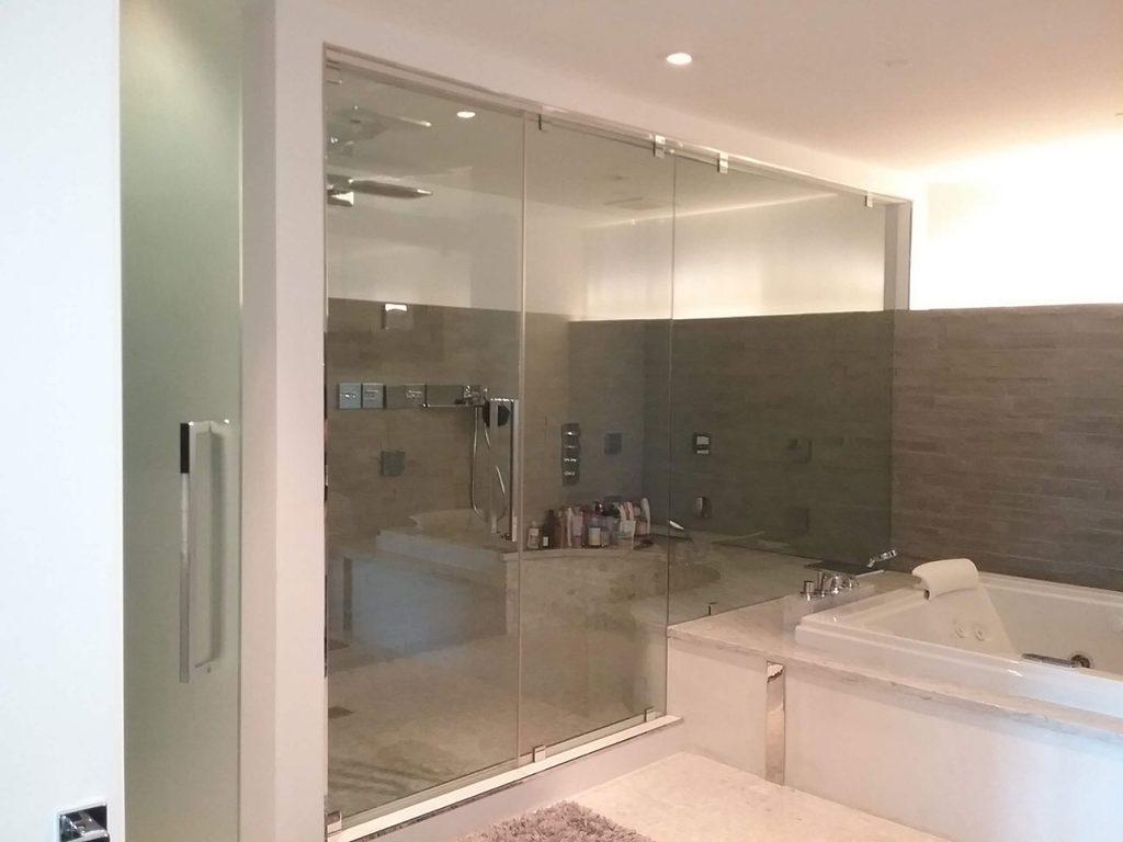 glass shower walls